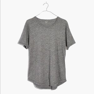 Madewell whisper cotton t shirt heather gray